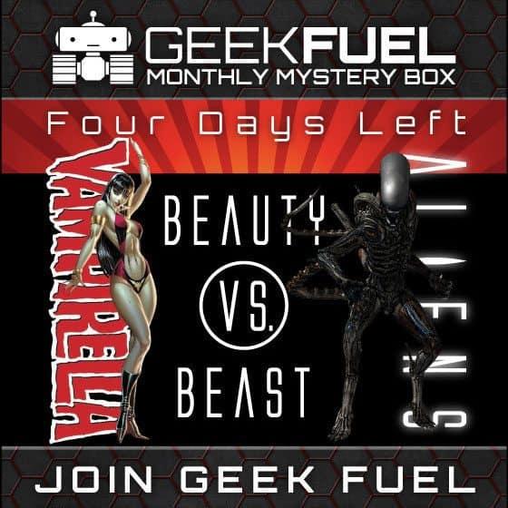 Geek Fuel July 2015 Box Spoiler - Vampirella vs Aliens