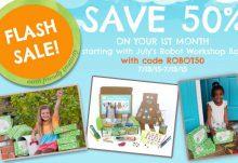 Green Kid Crafts Robot Workshop Box Flash Sale