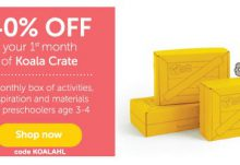 Koala Crate 40% Off 1st Month
