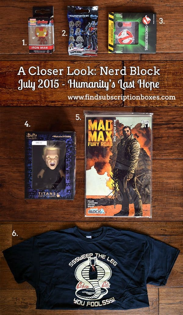 Nerd Block July 2015 Humanity's Last Hope Box Review - Inside the Box