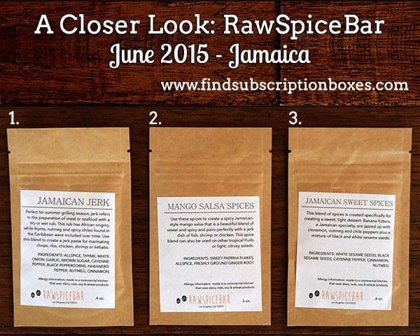 RawSpiceBar June 2015 Spice Box Review - Inside the Box