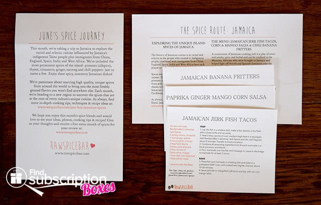 RawSpiceBar June 2015 Spice Box Review - Spice Info and Recipes