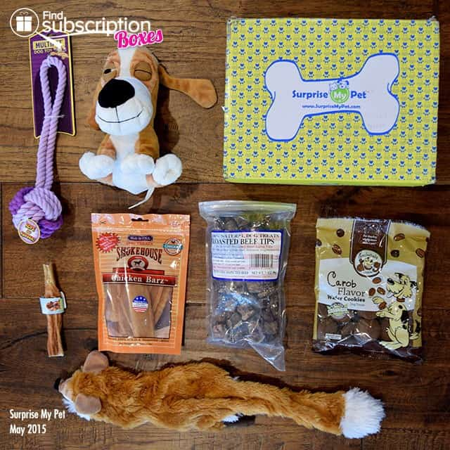 Surprise My Pet May 2015 Box Review - Box Contents