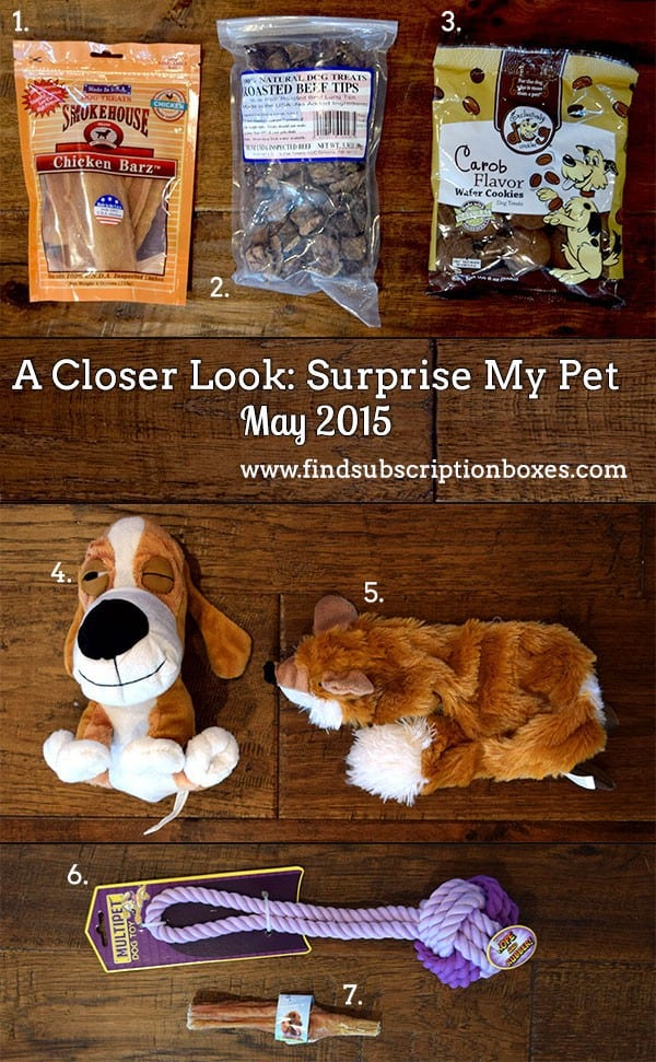 Surprise My Pet May 2015 Box Review - Inside the Box
