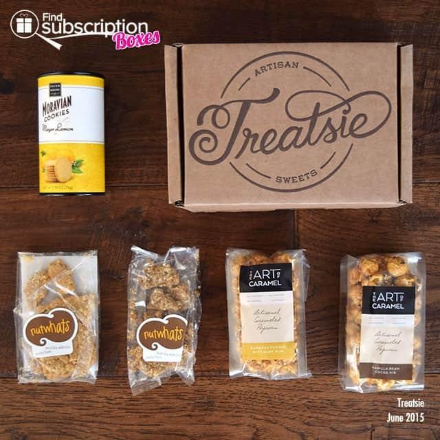 Treatsie June 2015 Box Review - Box Contents