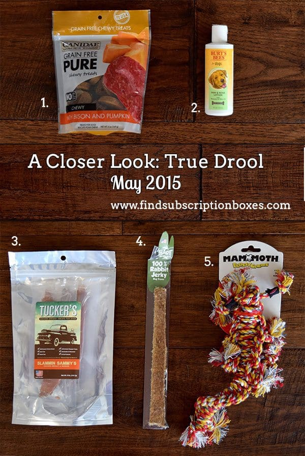 True Drool May 2015 Box Review - Inside the Box