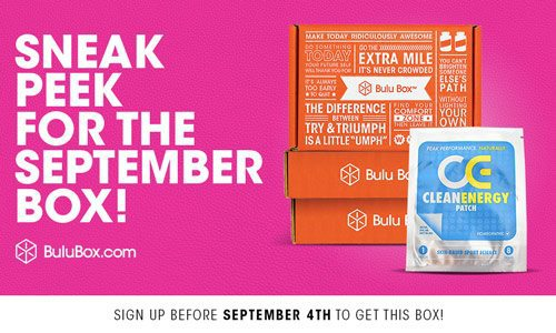 Bulu Box September 2015 Box Spoiler - Clean Energy Patch