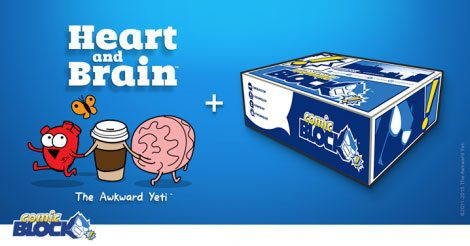 Comic Block August 2015 Box Spoiler - Heart and Brain Comic
