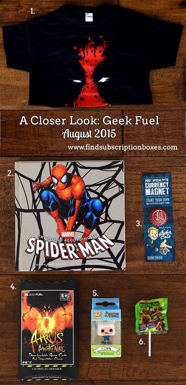 Geek Fuel August 2015 Box Review - Inside the Box