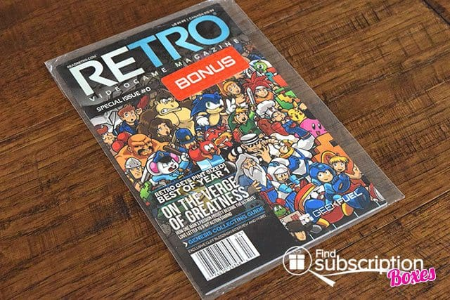 Geek Fuel August 2015 Box Review - RETRO Magazine Issue #0 Free Gift