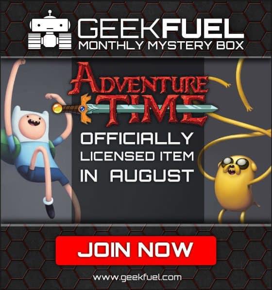 Geek Fuel August 2015 Box Spoiler - Adventure Time