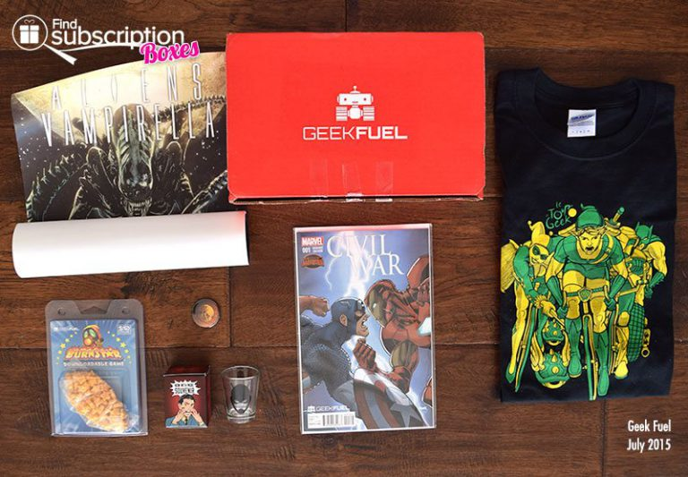 Geek Fuel July 2015 Box Review - Box Contents