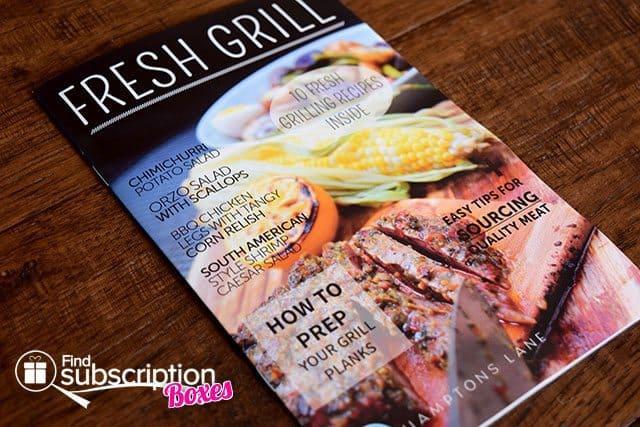 Hamptons Lane August 2015 Box Review - Fresh Grill Box - Magazine & Recipes