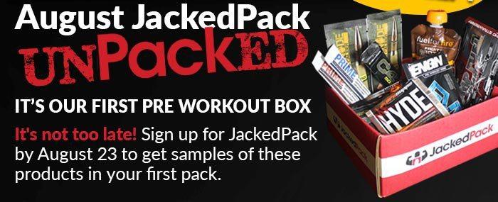 JackedPack August 2015 Box Spoilers
