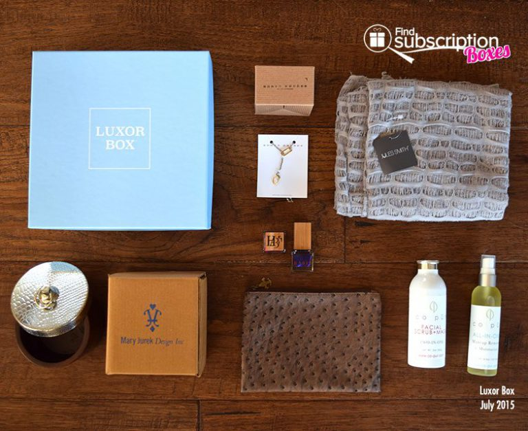 Luxuor Box July 2015 Box Review - Box Contents