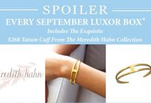 Luxor Box September 2015 Box Spoiler - Meredith Hahn Tatum Cuff