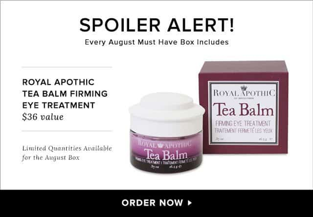 POPSUGAR Must Have August 2015 Box Spoiler - Royal Apothic Tea Balm Firming Eye Treatment