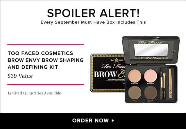 POPSUGAR September 2015 Must Have Box Spoiler - Too Faced Cosmetics