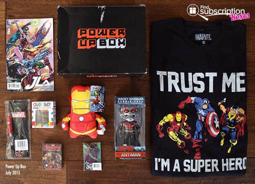 Power Up Box July 2015 Box Review - Box Contents
