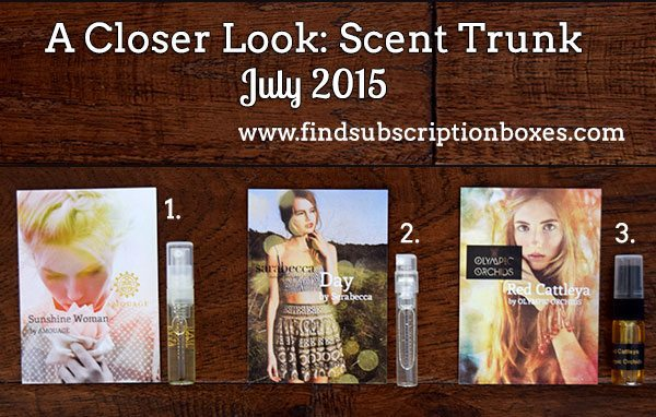 Scent Trunk July 2015 Box Review - Inside the Box