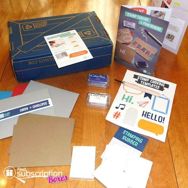 Doodle Crate Stampcarving and Printmaking Crate Box Review - Project Materials