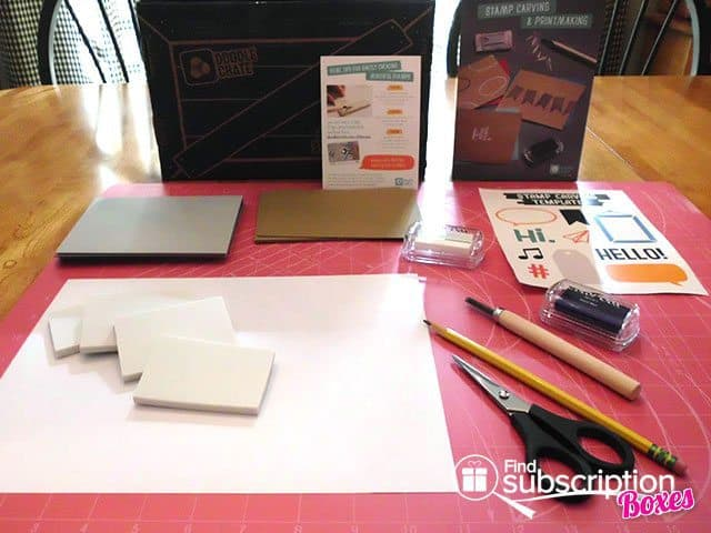 Doodle Crate Stampcarving and Printmaking Crate Box Review - Project Workarea