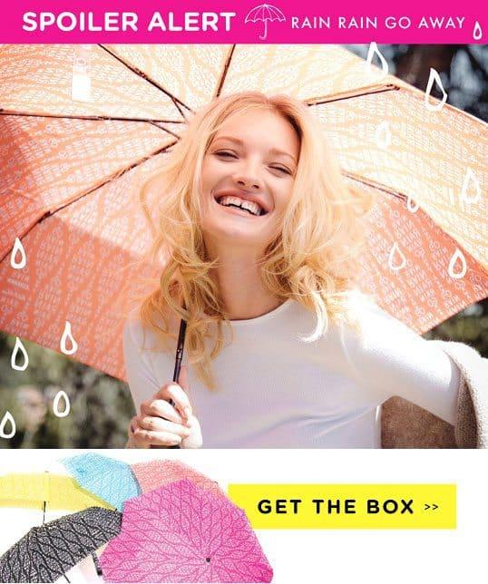 FabFitFun VIP Box Fall 2015 Box Spoiler - Tappan Umbrella