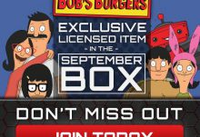 Geek Fuel September 2015 Box Spoiler - Bob's Burgers