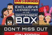 Geek Fuel September 2015 Box Spoiler - Bob's Burgers