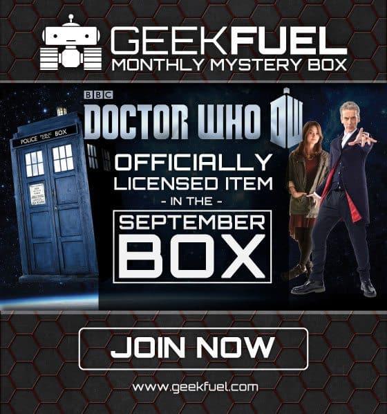 Geek Fuel September 2015 Box Spoiler - Doctor Who