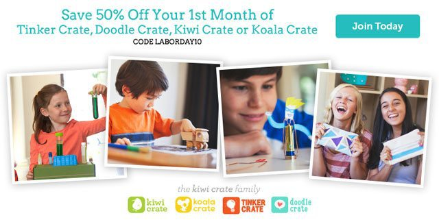 Kiwi Crate 50% Off Labor Day Sale