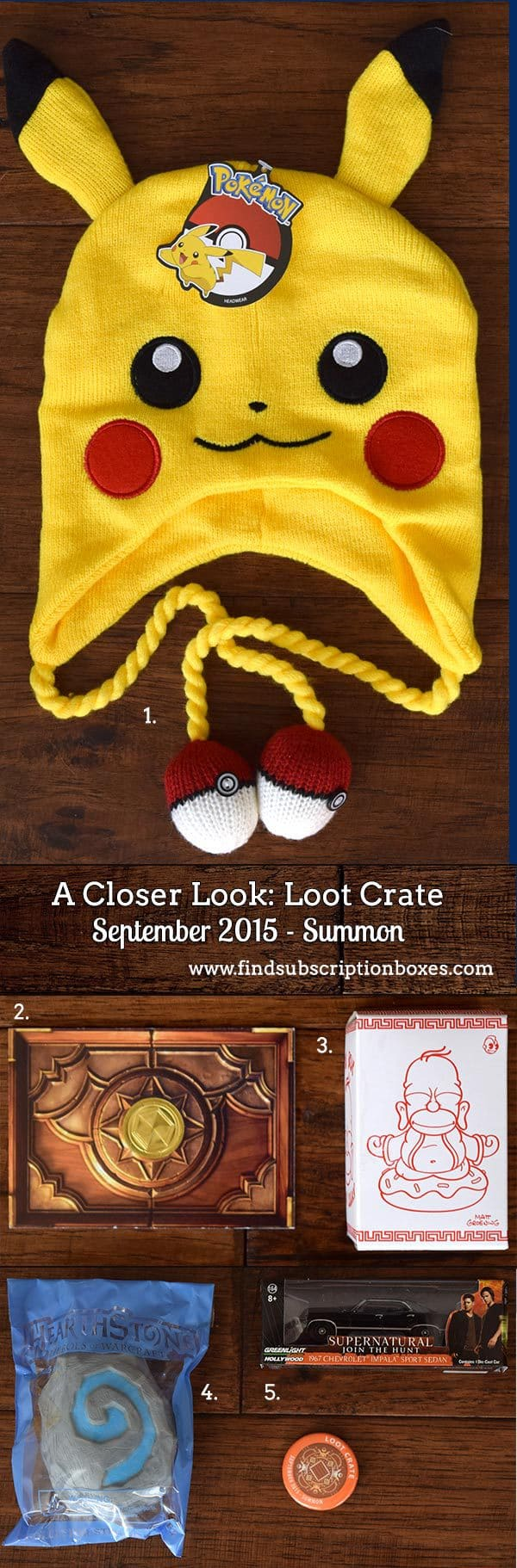 Inside the Loot Crate September 2015 Summon Crate