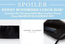November Luxor Box Spoiler - Brandon Blackwood Mini Leather Pouch