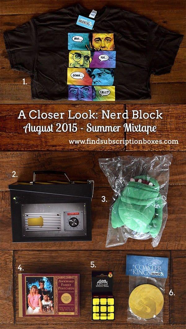 nerd-block-august-2015-summer-mixtape-box-review-inside-the-box