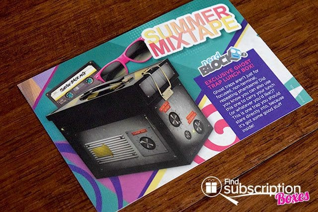 Nerd Block August 2015 Summer Mixtape Box Review - Product Card