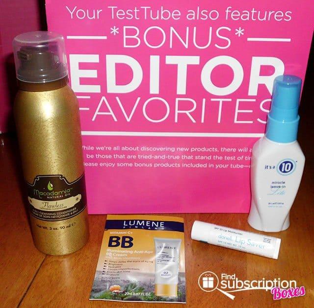 NewBeauty TestTube September Box Review - Bonus Items