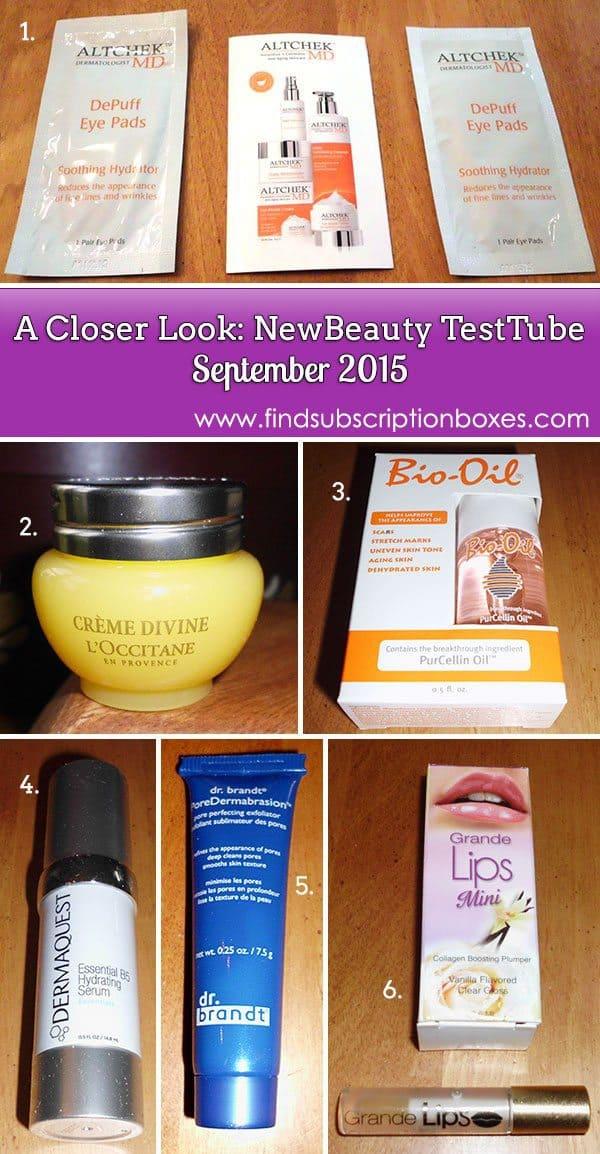 NewBeauty TestTube September Box Review - Inside the Box