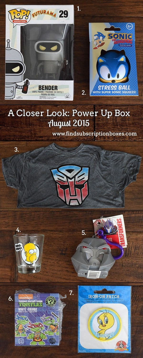 Inside the August Power Up Box