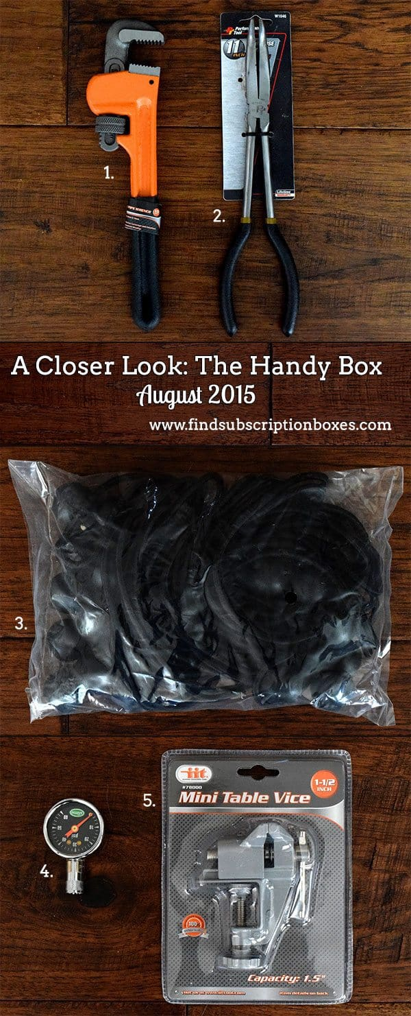 The Handy Box Review - August 2015 - Box Contents