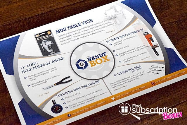 The Handy Box Review - August 2015 - Product Card