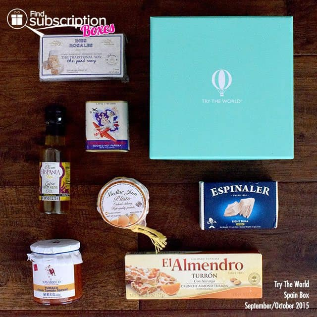 Try The World Box Review - Spain Box - September/October 2015 - Box Contents