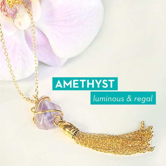 Your Bijoux Box October Wrapped Amethyst Necklace