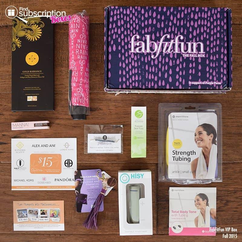Fall 2015 FabFitFun VIP Box