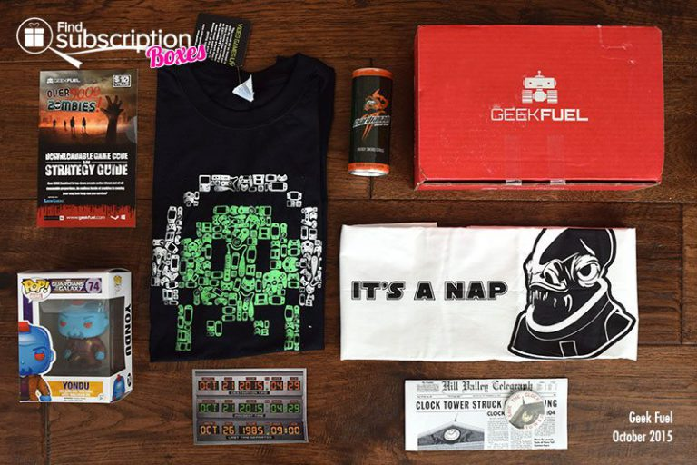 Geek Fuel Review - October 2015 Box Contents