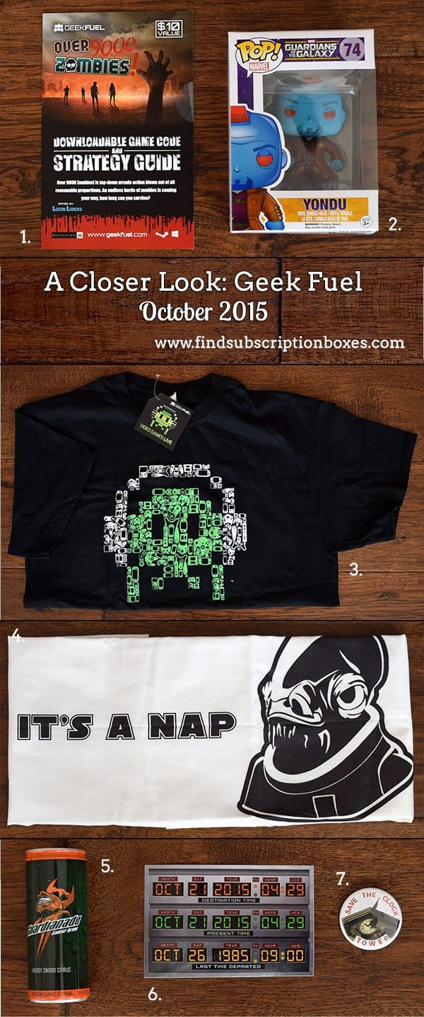 Geek Fuel Review - October 2015 Inside the Box