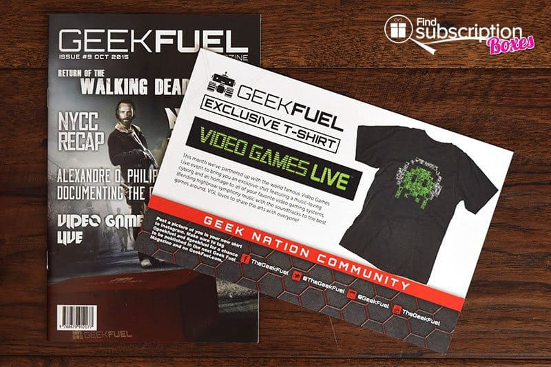 Geek Fuel Review - October 2015 Product Card & Geek Fuel Magazine