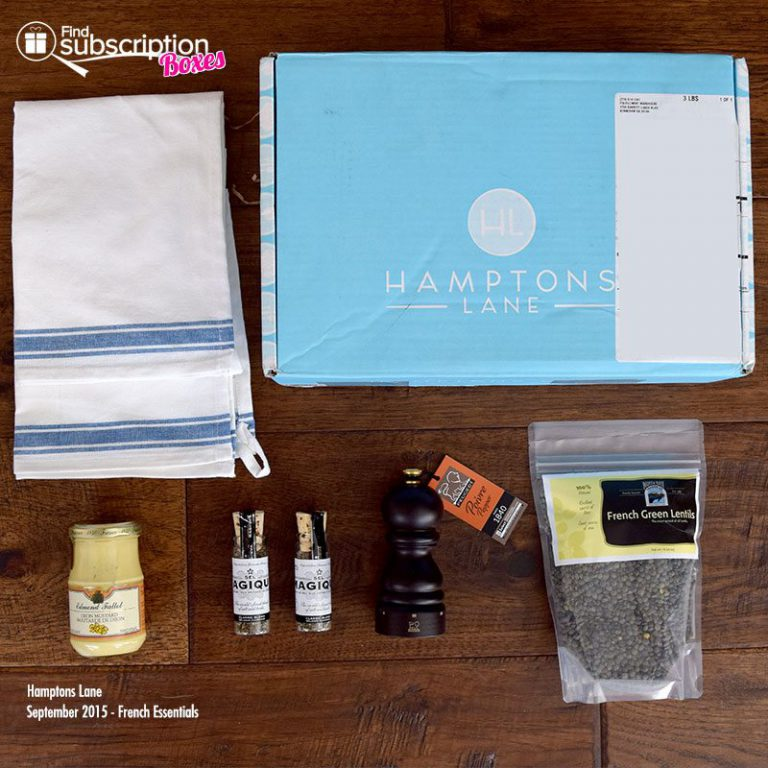 Hamptons Lane French Essentials September 2015 Box Contents