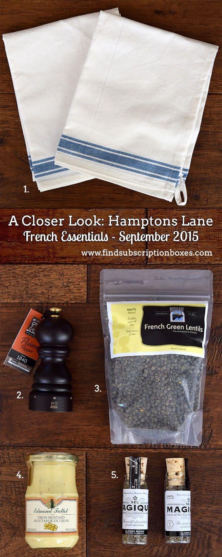 Hamptons Lane French Essentials September 2015 Inside the Box