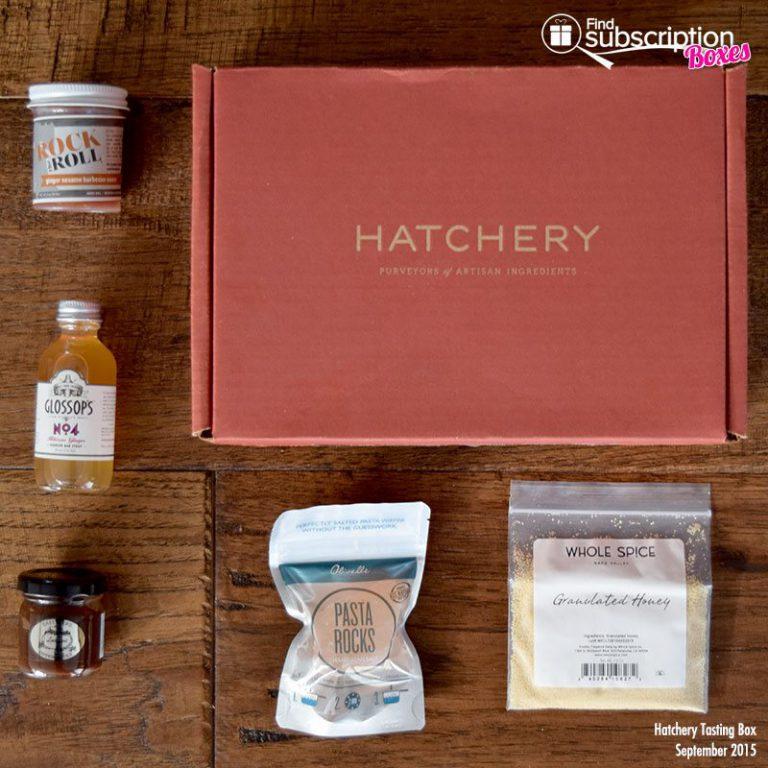 Hatchery September 2015 Tasting Box - Box Contents