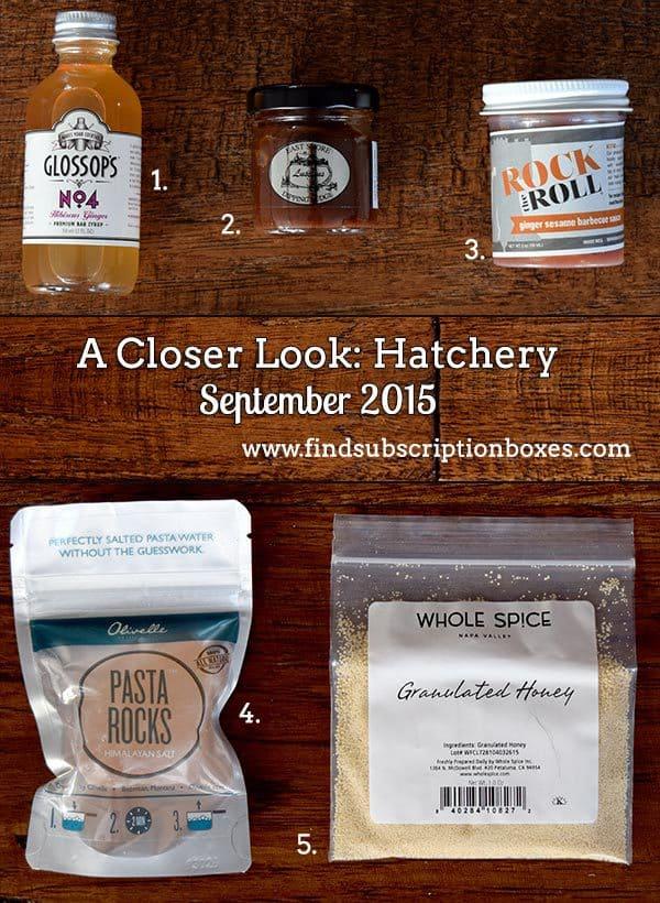 Hatchery September 2015 Tasting Box - Inside the Box